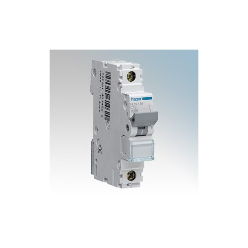 Hager 1 Module Single Pole Type D Miniature Circuit Breaker MCB 2A 10kA