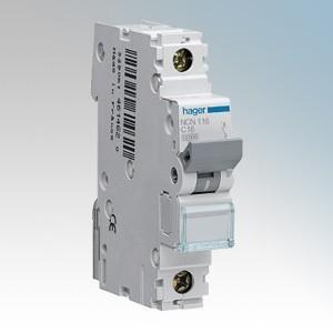 Hager 1 Module Single Pole Type D Miniature Circuit Breaker MCB 6A 10kA