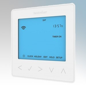 Heatmiser NEOSTAT-HW Glacier White Flush Mounting Hot Water Programmer With Boost Feature