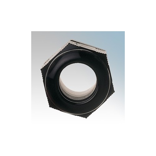 Elkay NGL25-B Black Nylon Locknut M25