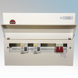 Wylex NMISS15SLM NM Series Amendment 3 All Metal 15 Way Twin RCD Flexible Consumer Unit With 100A Switch Disconnector Isolato...