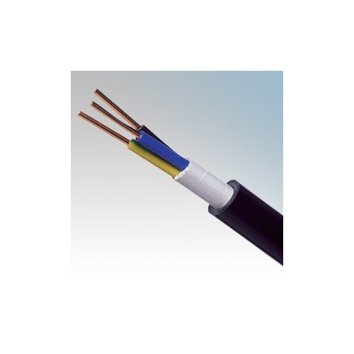 NYYJ6.0-3C NYY-J Black 3 Core Circular PVC Insulated / PVC Sheathed Power & Control Cable 6.0mm  (priced per metre)
