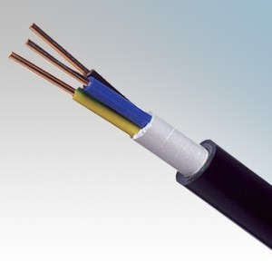 NYYJ6.0-4C NYY-J Black 4 Core Circular PVC Insulated / PVC Sheathed Power & Control Cable 6.0mm  (priced per metre)