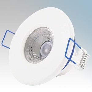 Ovia OV5400WH5WD Inceptor Nano5 White Fixed Dimmable Compact LED Fire Rated Downlight With Warm White LEDs, Integrated Driver & Flow Connector IP65 4.8W 400Lm 240V