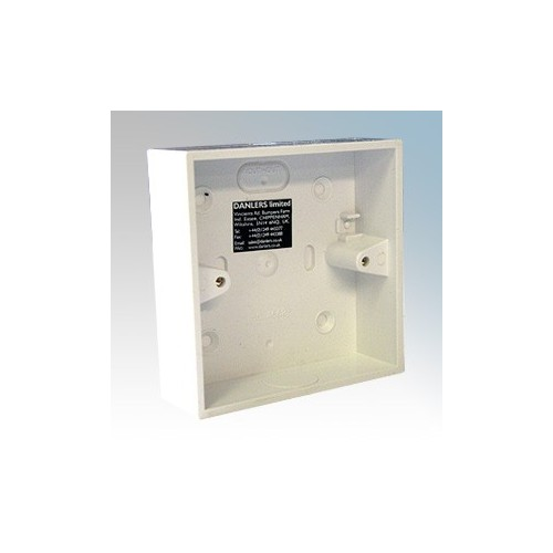 Danlers PABO White Square Mounting Box For Square Surface Mounting Ceiling Products