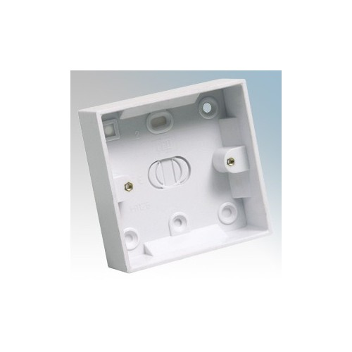 CED PB125 White Moulded 1 Gang Surface Mounting Box With Knockouts 25mm