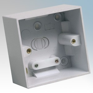CED PB145 White Moulded 1 Gang Surface Mounting Box With Knockouts 45mm