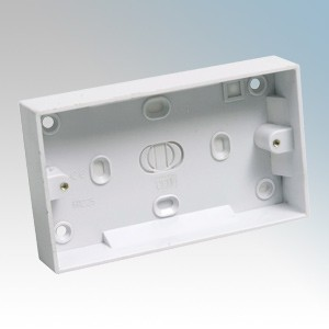 CED PB225 White Moulded 2 Gang Surface Mounting Box With Knockouts 25mm