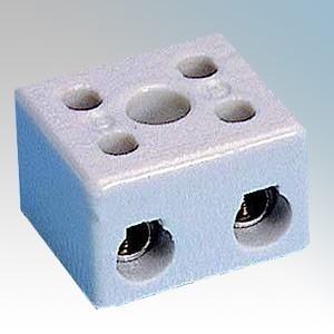 PC153 3 Way Porcelain Connector Block 15A
