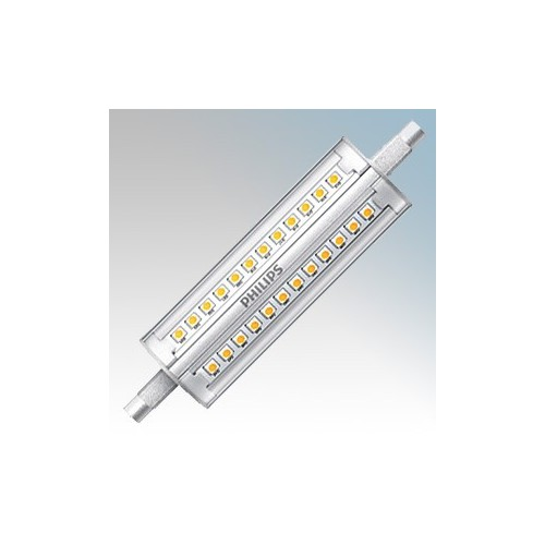 Philips 57881000 CorePro LEDcapsule MV Clear Cool White 4000K Dimmable LED R7s Capsule Lamp 1800Lm 14W G9 240V Dia:28.5mm x L:118mm