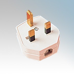 Shop4-Electrical PLUGTOP White Fused 3-Pin Plug 13A