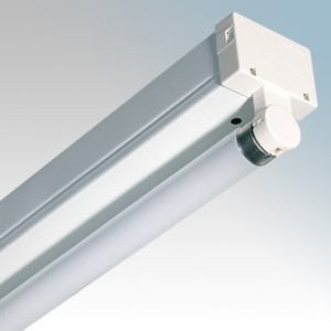 Thorn Lighting PP158Z Popular White Single High Frequency Fluorescent Batten With Lamp IP20 1 x 58W 1500mm / 5ft