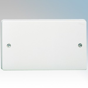 Crabtree 4002 Capital White Moulded 2 Gang Blank Plate