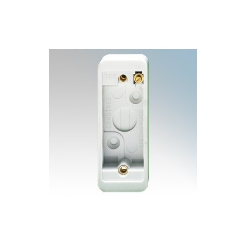 Crabtree 4005 Capital White Moulded 1 Gang Architrave Surface Mounting Box 20mm