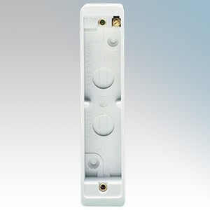 Crabtree 4006 Captial White Moulded 2 Gang Surface Architrave Mounting Box 20mm Depth