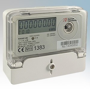 Rayleigh Instruments RIHXE12R White Direct Connect Single Phase Meter For PV Generation 100A