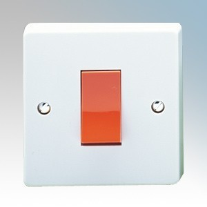 Crabtree 4016 Capital White Moulded Double Pole Switch 45A