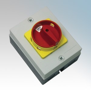 CED RS254 Moulded Four Pole Rotary Isolator Switch 25A 11kW 415V