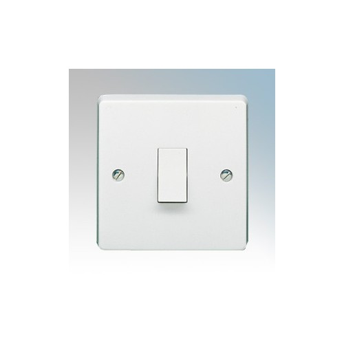 Crabtree 4070 Capital White Moulded 1 Gang 1 Way Single Pole Plateswitch 10Ax