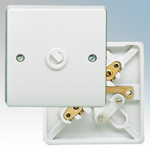 Crabtree 4075 Capital White Moulded 1 Gang Flex Outlet Frontplate With Cable Clamp 20A