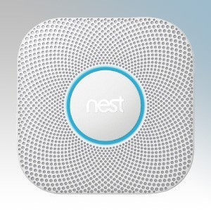 Nest S3003LWGB Protect White Mains Smoke & Carbon Monoxide Alarm With Wi-Fi Control, Rechargeable Lithium Batteries & Pathlight Feature 230V