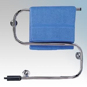 Dimplex S Range Chrome Wall Mounting Dry Element Tubular Steel Towel Rail 45W