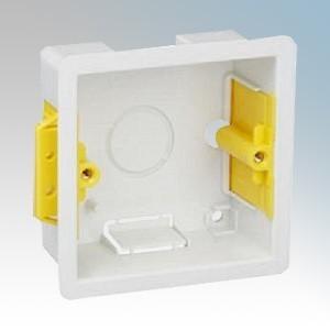Appleby SB619 White 1 Gang Dry Lining Mounting Box 35mm