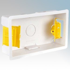 Appleby SB629 White 2 Gang Dry Lining Mounting Box 35mm