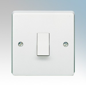 Crabtree 4170 Capital White Moulded 1 Gang 2 Way Single Pole Plateswitch 10Ax