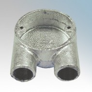 Branch U Boxes (2 Way) For Round Steel Conduit