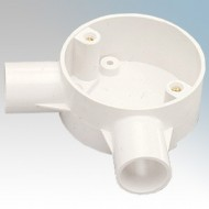 Angle Boxes (2 Way) For Round PVC Conduit