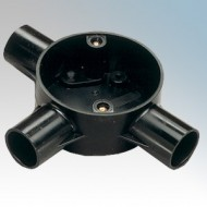 Tee Boxes (3 Way) For Round PVC Conduit