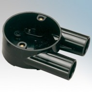 Branch U Boxes (2 Way) For Round PVC Conduit