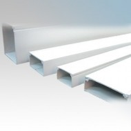Commercial PVC Trunking - 3m Lengths