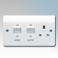 White Moulded Cooker Control Units