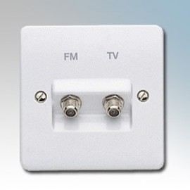 White Moulded Data, TV & Telephone Outlets