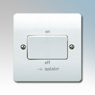 White Moulded TP Fan Isolator Switches