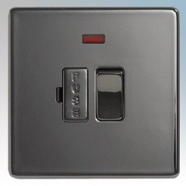BG Nexus Black Nickel Screwless Flat Plate 13A Connection Units