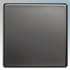 BG Nexus Black Nickel Screwless Flat Plate Blank Plates