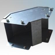 Galvanised Steel Trunking 90° Outside Lid Bends IP4X - New Range