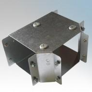 Galvanised Steel Trunking 90° Top Lid Equal Tees IP4X - New Range