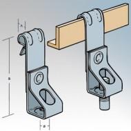 Britclips Vertical Flange Threaded Rod Hanger
