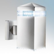 Searchlight Satin Silver LED Outdoor Wall Light IP44