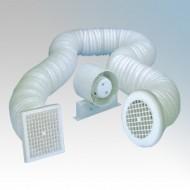 Manrose SF100 Mains Voltage In-Line Shower Fan Kit