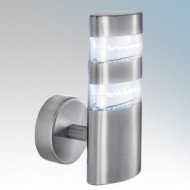 Searchlight 5308 Satin Silver LED Outdoor Wall Light IP44