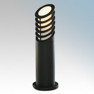 Searchlight Black Aluminium Garden Bollards With Grille