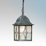 Searchlight Genoa Black/Silver Aluminium Pendant Light IP23