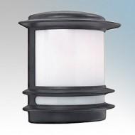 Searchlight 1812 Black Aluminium Half Wall Light IP44