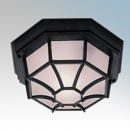 Searchlight Aluminium Hexagonal Flush Porch Light IP54