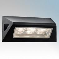 Searchlight 5513BK Black Aluminium LED Wall Light IP44
